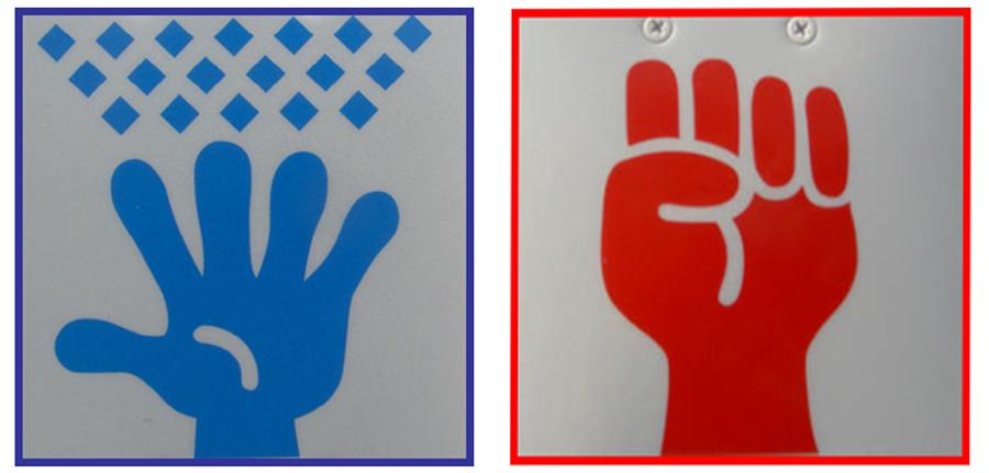 雪国特有の標識|グーパー標識|凍結防止剤の散布