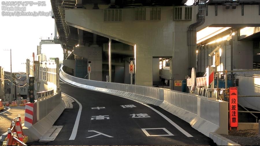 首都高・小松川JCTと同時に建設されている中環小松川入口。