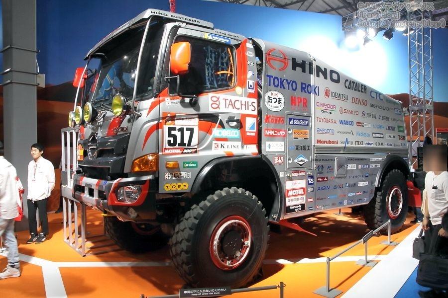 東京モーターショー2019で日野が出展した、ダカールラリー2019で走行した「レンジャー」517号車。