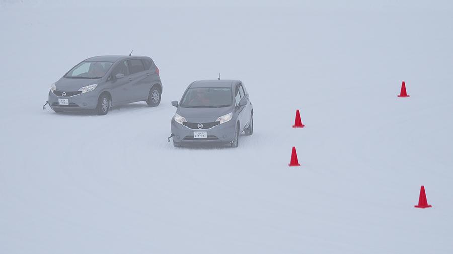 雪上カーブテスト