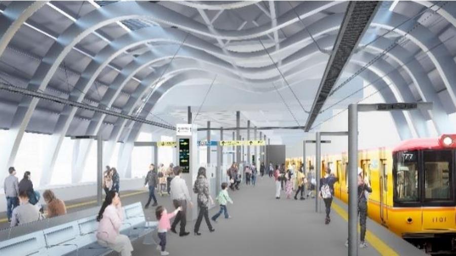 銀座線渋谷駅の新ホームイメージ|渋谷駅のホーム|銀座線運休|渋谷駅工事