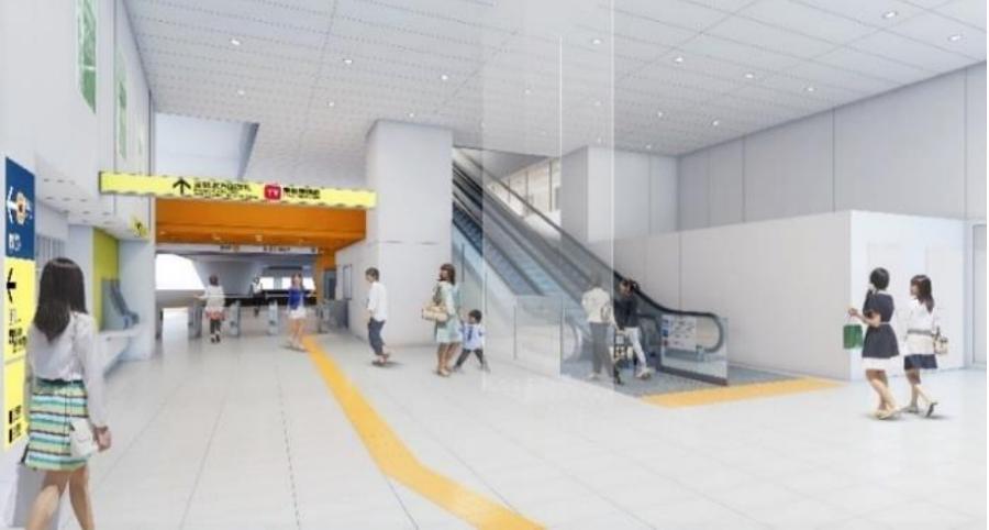 銀座線渋谷駅|明治通り側コンコースのイメージ|銀座線運休|渋谷駅工事
