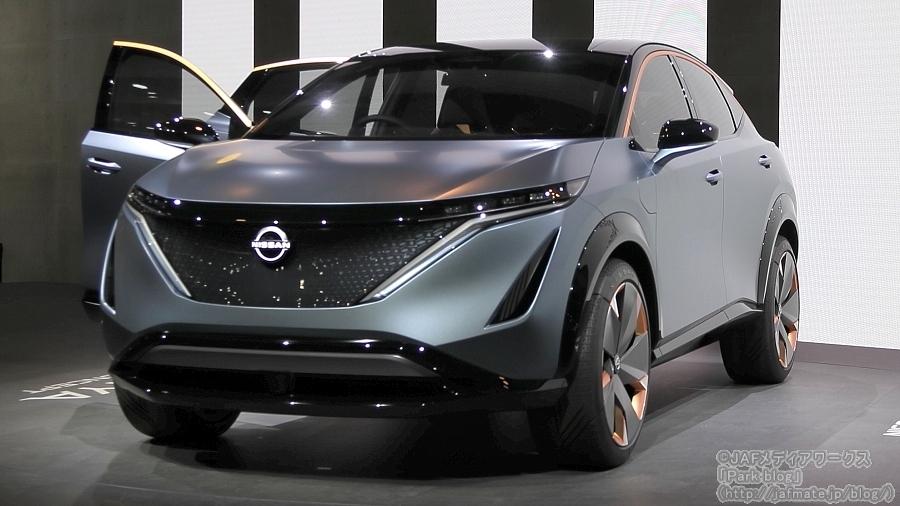 日産が東京モーターショー2019で初披露したクロスオーバーEV「アリア コンセプト」。