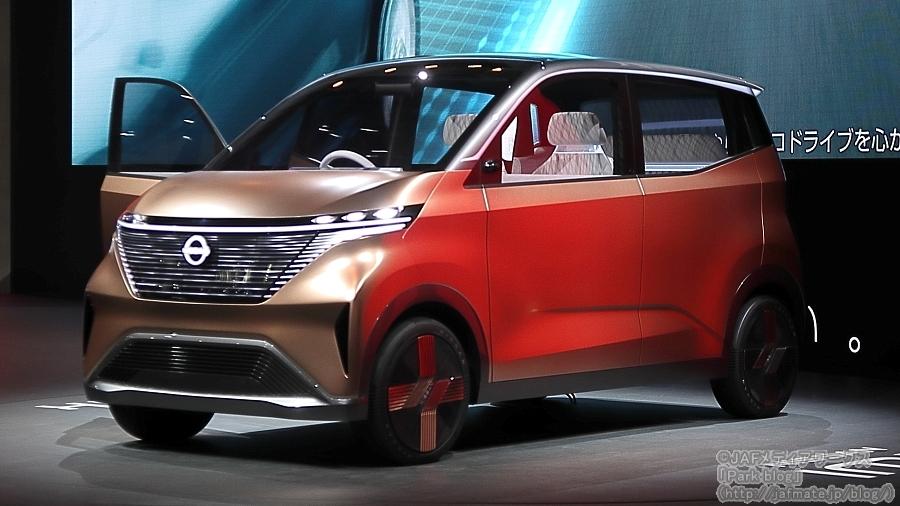 日産が東京モーターショー2019で初披露した軽自動車規格のシティコミューター型EV「IMK」