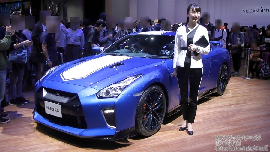 日産が東京モーターショー2019で出展した「GT-R 50th Anniversary」。