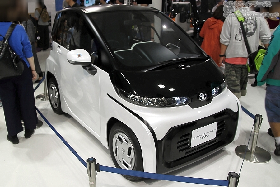 東京モーターショー2019(FUTURE EXPO)で披露された、2020年冬頃発売予定の「超小型EV」。