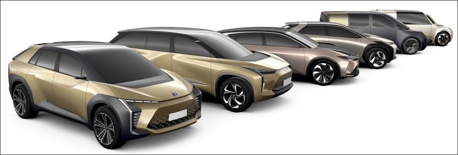 トヨタのEVのイメージ。