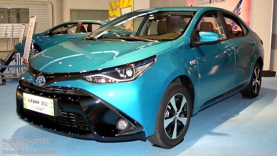 広汽トヨタが中国で販売している「レビンPHV」。