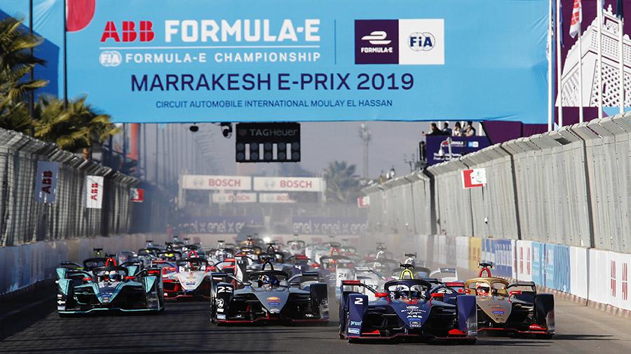 フォーミュラEの2018-19年シーズン第2戦マラケシュのスタート