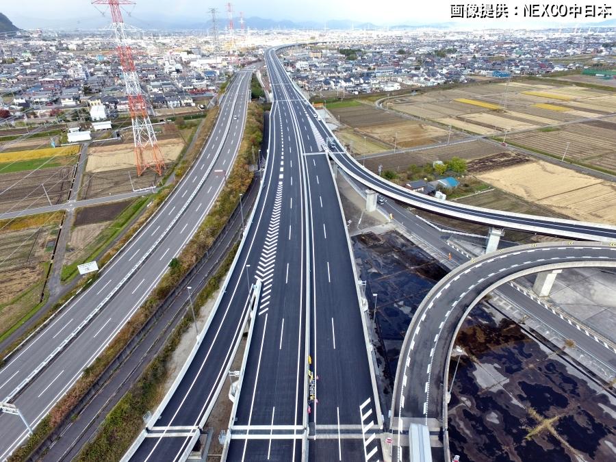 画像3。NEXCO中日本のC3東海環状自動車道の大垣西IC。2019年11月に撮影されたもの。画像提供:NEXCO中日本