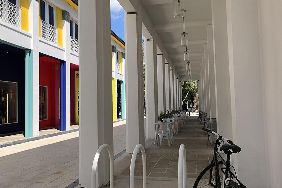 マイアミ・デザインディストリクトのブティック街