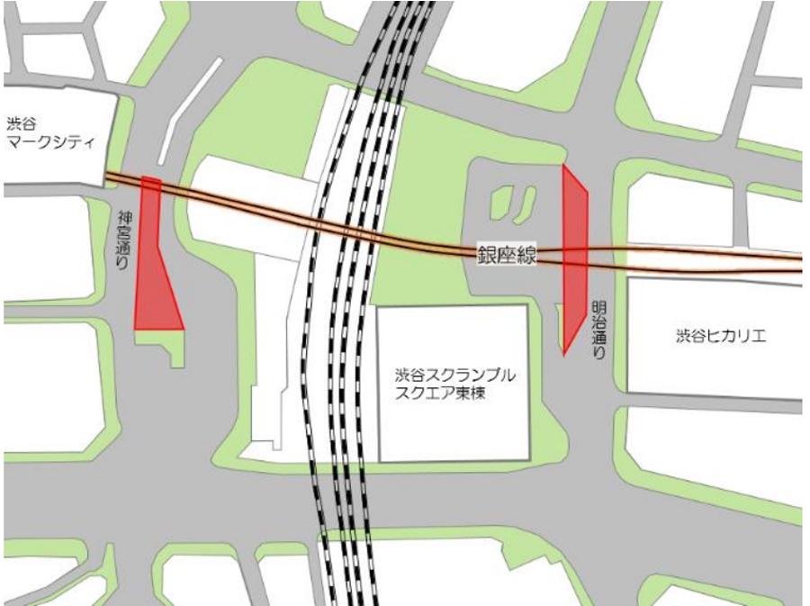 銀座線渋谷駅|駅舎移設工事|区間運休|周辺道路の通行止め