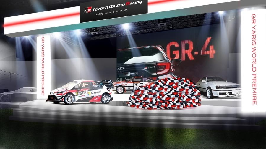 画像1。東京オートサロン2020のTOYOTA GAZOO Racingブースのイメージ。