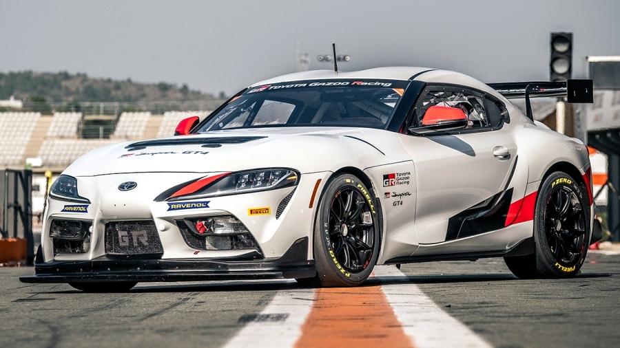 画像3。トヨタが東京オートサロン2020に出展するレーシングカー「GR スープラ GT4」。
