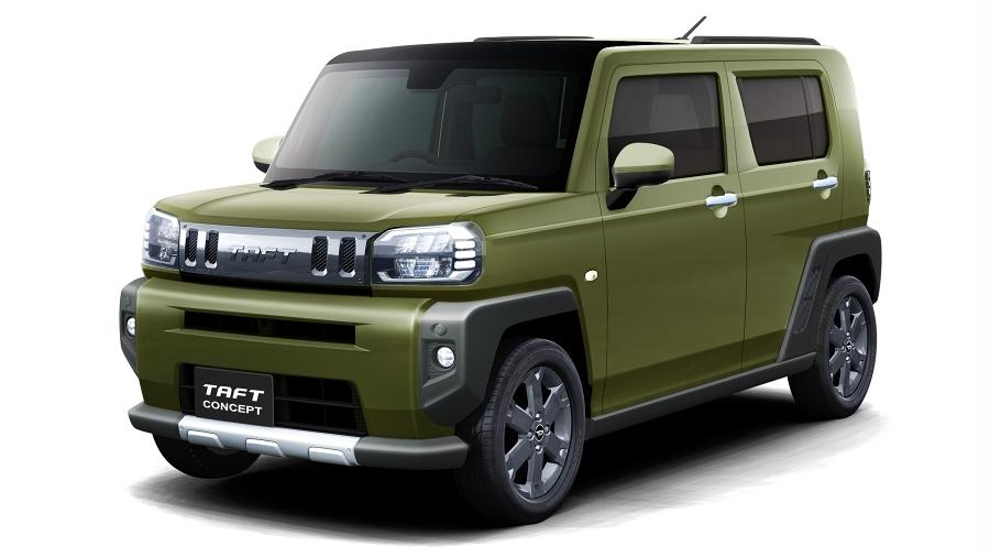 ダイハツが市販予定の軽クロスオーバーのコンセプトカー「TAFT コンセプト」。