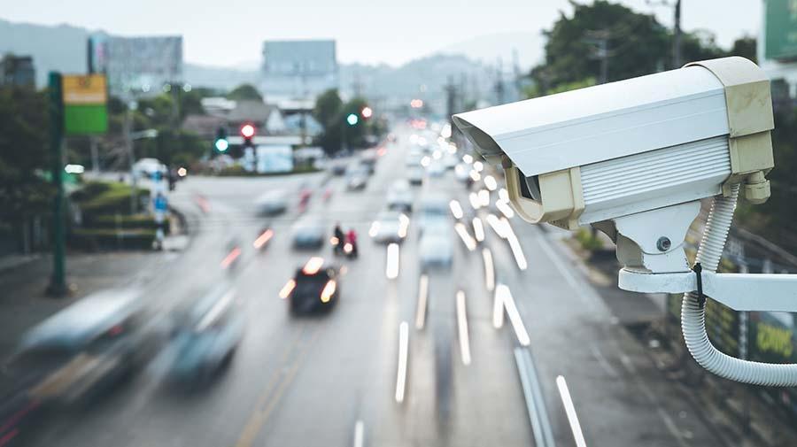 道路に設置されたライブカメラのイメージ写真