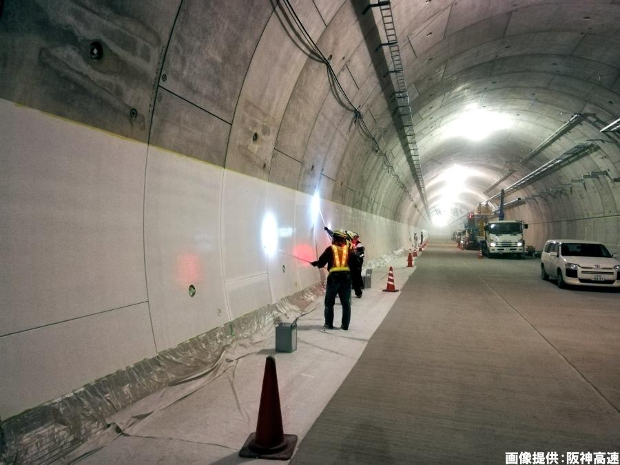 画像2。阪神高速・6号大和川線は8割がトンネル区間。3月29日にそのトンネル区間が完成、全線開通となる。