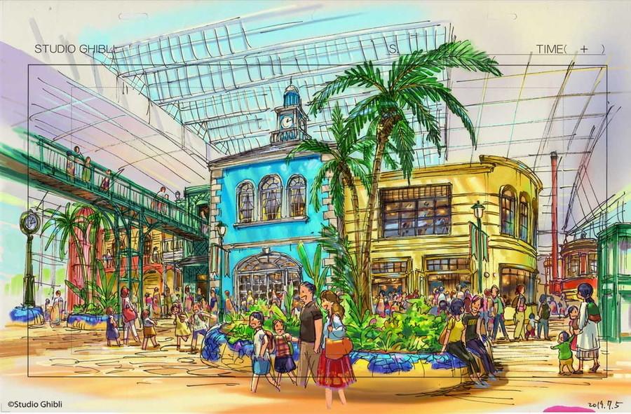 ジブリパーク「ジブリの大倉庫エリア」イメージ図。