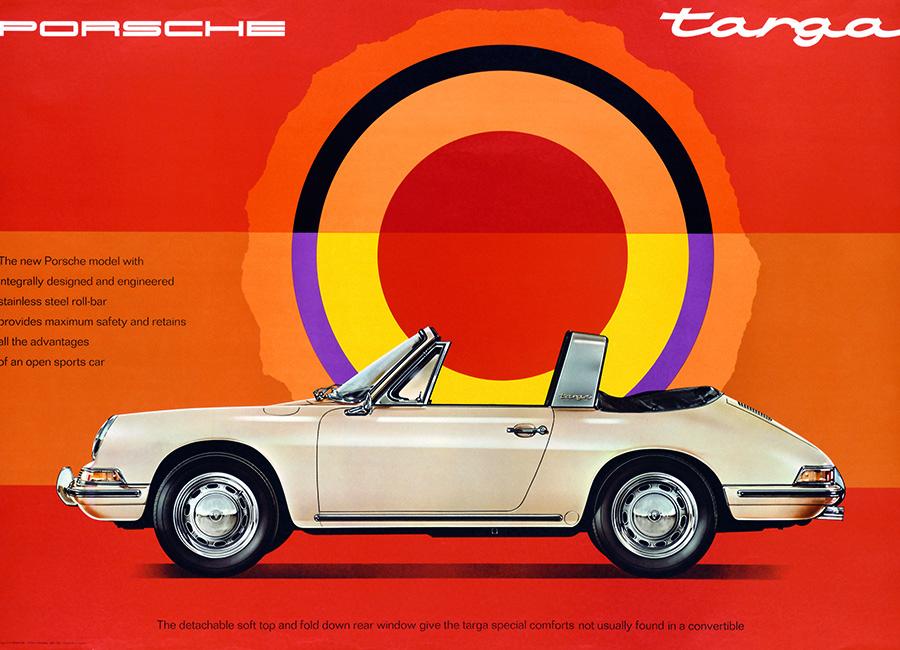 911に最初の加わったバリエーションがこれ、セミオープンの1966年911タルガ。