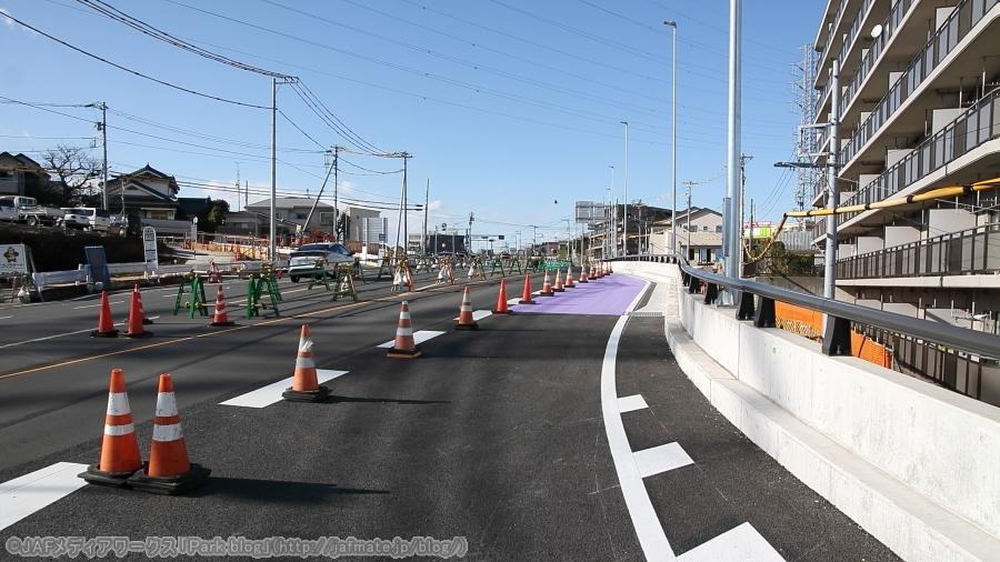 画像7。首都高・神奈川7号横浜北線の馬場出入口に接する太田神奈川線(県道111号)。法隆寺交差点側を見て。