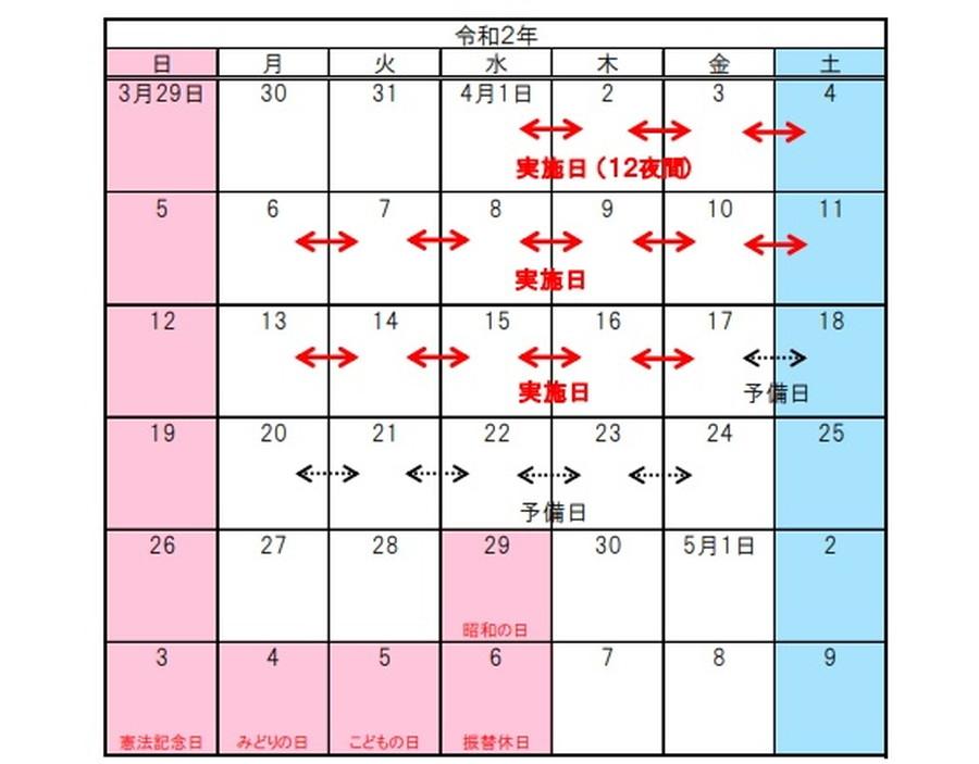 4月1日~16日まで、山形自動車道と日本海東北自動車道で夜間通行止めを実施。