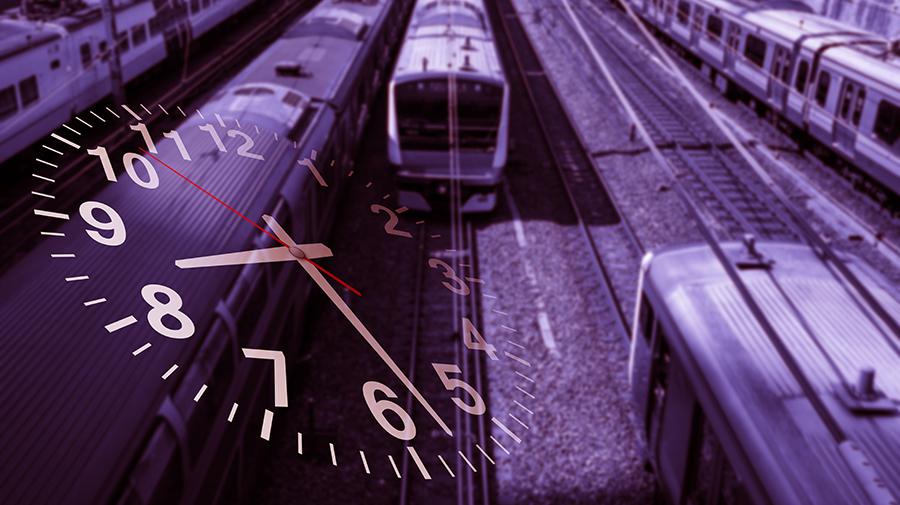 電車通勤のピーク時間帯のイメージ写真