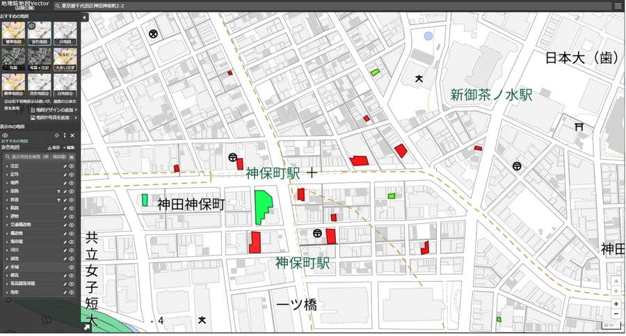 「地理院地図Vector(仮称)」の編集画面例3