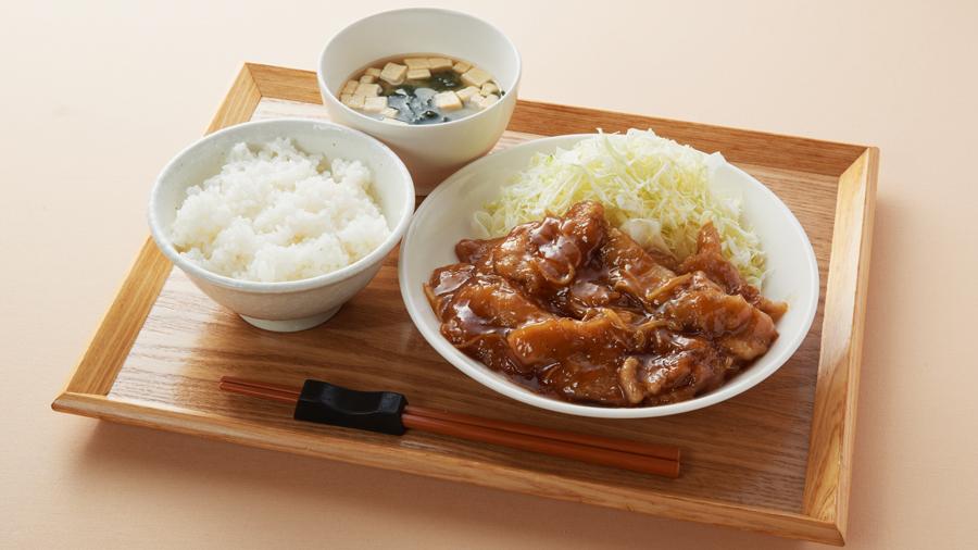 常磐道・東海PA(下)|フードコート|特製生姜焼き定食