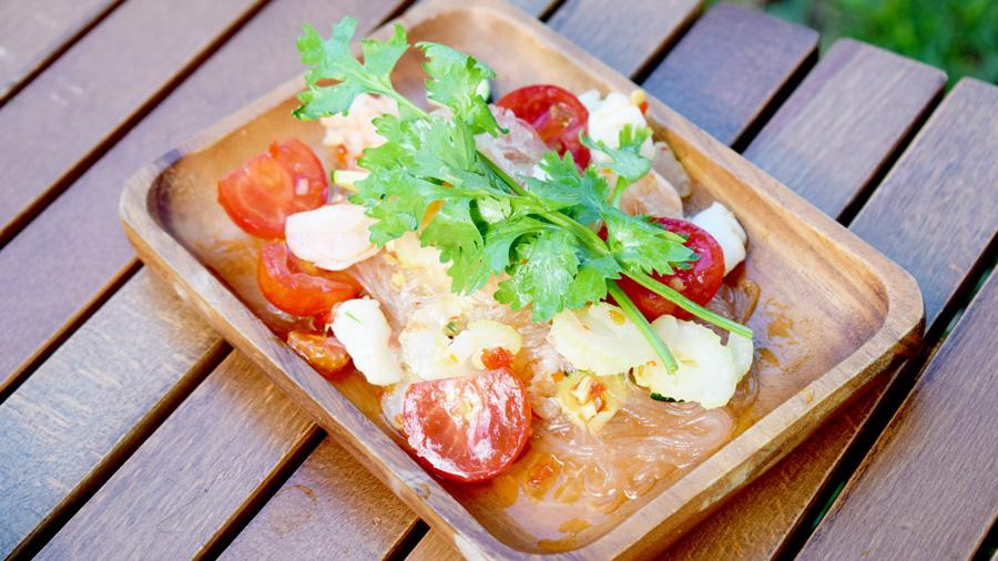 キャンプ料理|レシピ|ヤムウンセン|春雨サラダ|エスニック