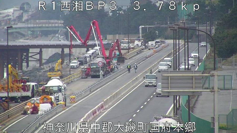 西湘バイパスの復旧作業の様子|国土交通省 横浜国道事務所