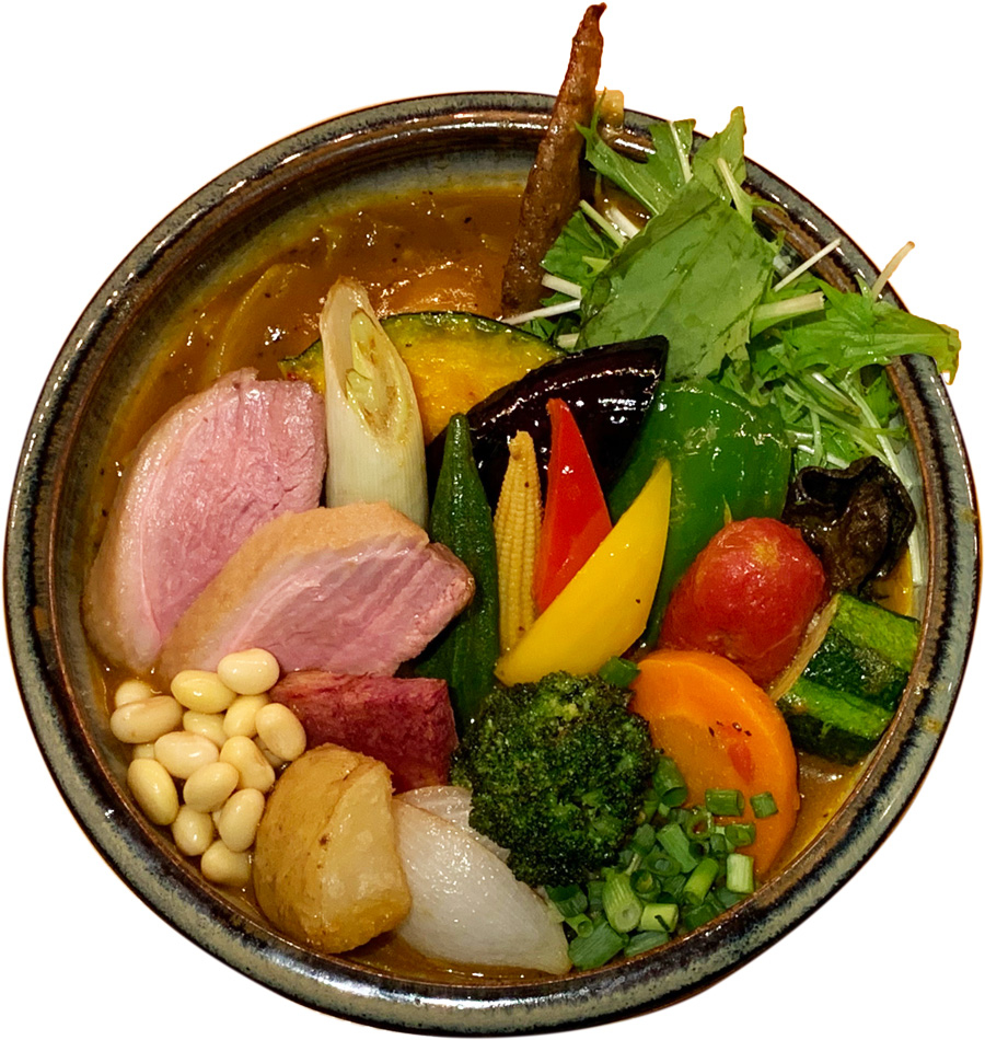 下北沢カレーフェスティバル|RojiuraCurrySAMURAI.下北沢店|特製合鴨ロースと野菜のカレー|参加店舗