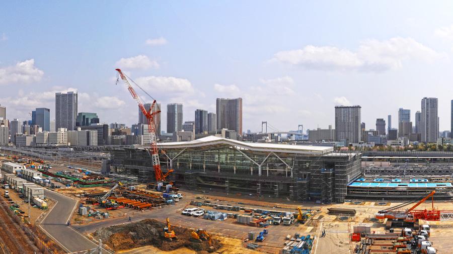 山手線|京浜東北線|線路切替工事|工事中の高輪ゲートウェイ駅