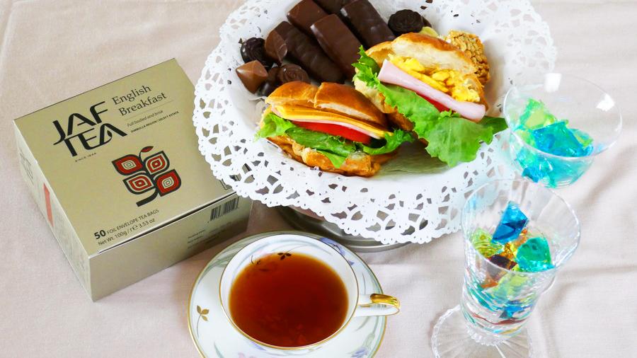 JAF TEAと軽食でアフテヌーンティー風お家カフェ。