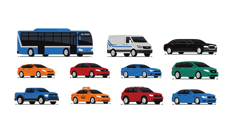 全国の全自動車のイメージ
