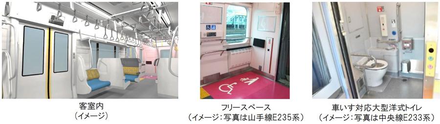 JR東日本 新型車両 E131系 車内イメージ