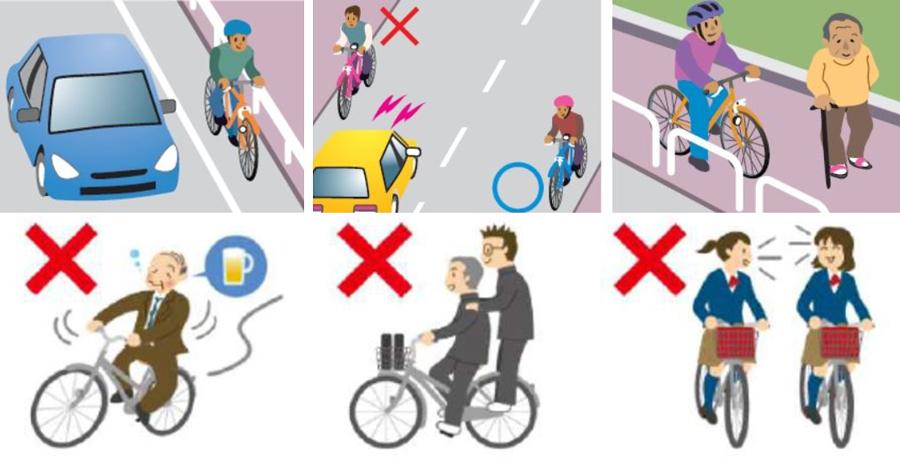 あおり運転|自転車|改正|道路交通法|自転車の危険行為
