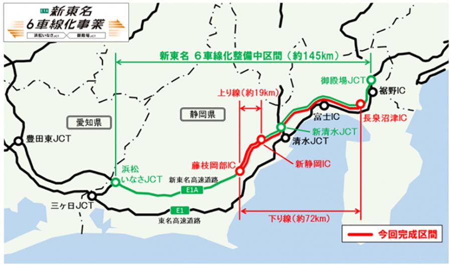 新東名高速道路6車線化事業