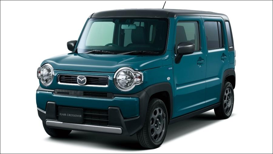 2020年2月27日に発売したマツダの2代目「フレア クロスオーバー」。スズキの2代目「クロスビー」のOEM供給車。