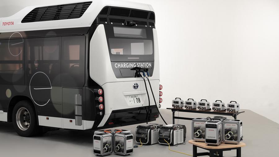 トヨタ|ホンダ|燃料電池バス|災害時の給電|Moving e(ムービングイー)