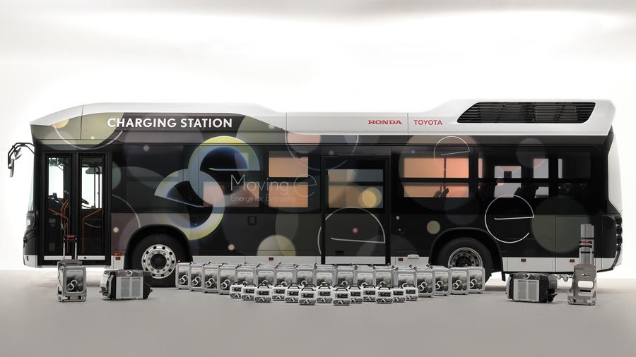 トヨタ|ホンダ|燃料電池バス|災害時の給電|Moving e(ムービングイー)|システム全貌