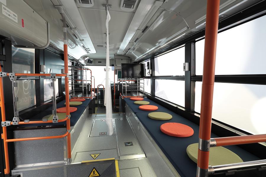 トヨタ|ホンダ|燃料電池バス|災害時の給電|Moving e(ムービングイー)|休憩や仮眠でも利用可能