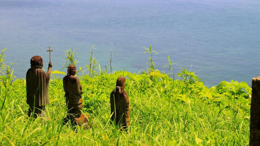 原城跡(長崎県南島原市)の「3体の石像」