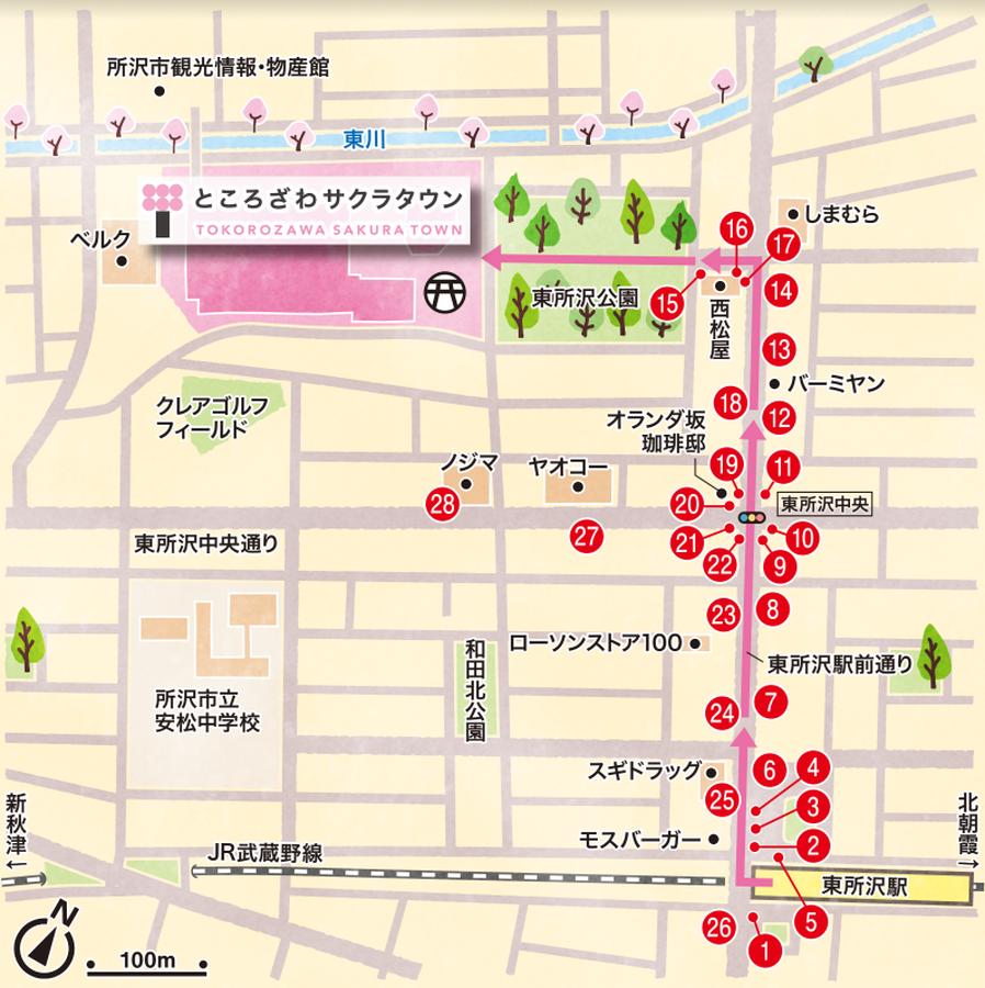 LEDマンホール設置場所図