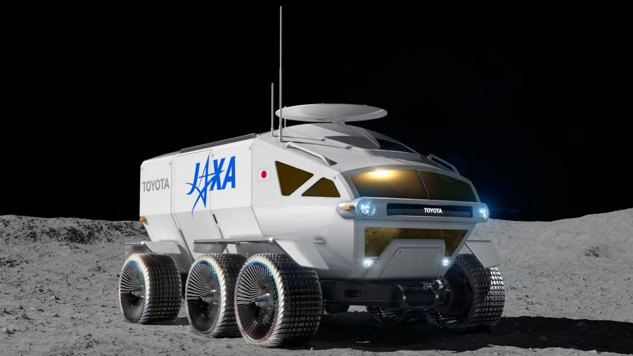 JAXA×トヨタで開発中の月面探査車「ルナ・クルーザー」のイメージ。