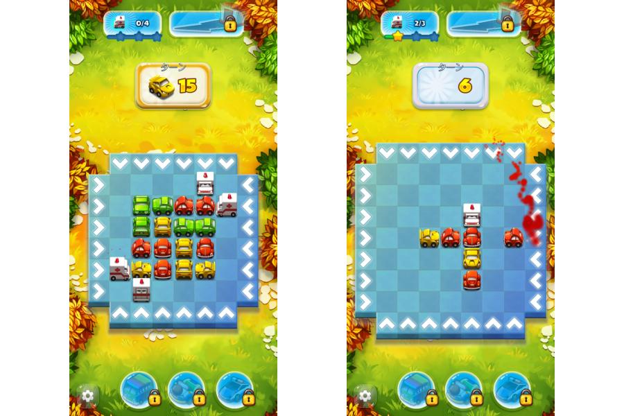 同色のクルマを3台並べると消せる3マッチパズル「Traffic Puzzle」。(c) 2020 Picadilla sp. z o.o. sp. k. Wszelkie prawa zastrzeżone.