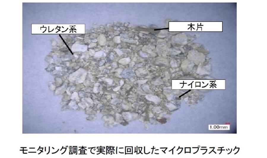 モニタリング調査で実際に回収したマイクロプラスチックの一例