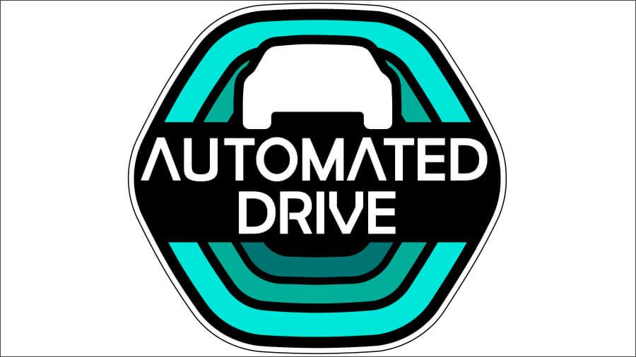 自動運転レベル3の外向け表示ステッカー。