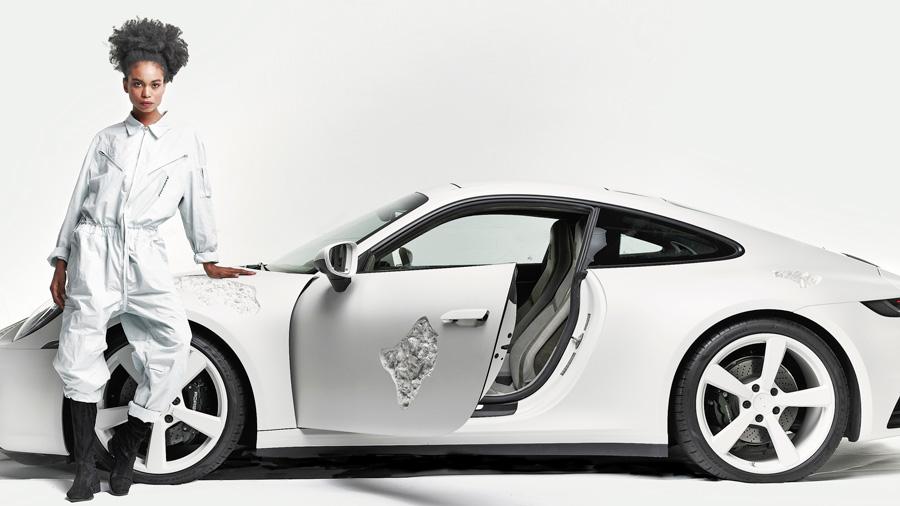 ポルシェ911|ダニエル・アーシャム|アート|渋谷パルコ|Crystal Eroded Porsche 911