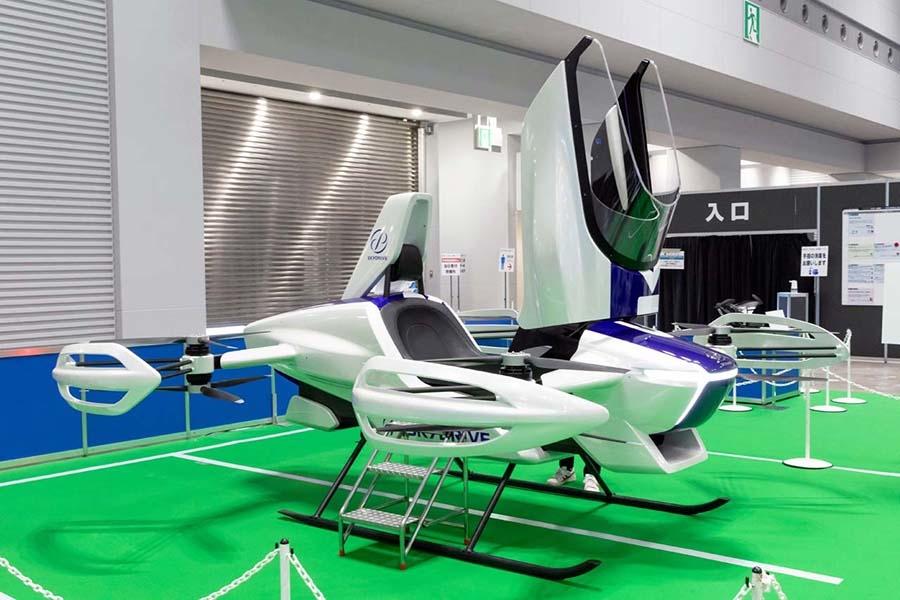 フライングカーテクノロジー展に出展された「SD-03」の展示用モデル