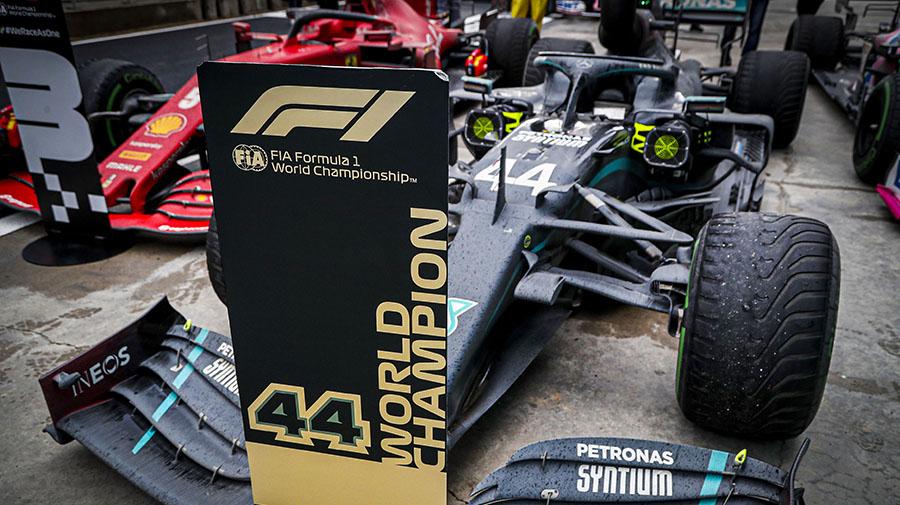 2020年F1チャンピオンのハミルトン
